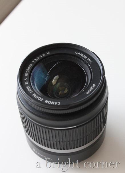 Scratched camera lens