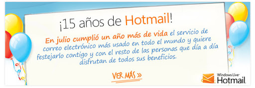 Hotmail 15 años