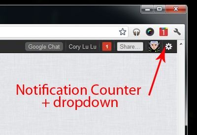 Notificaciones de Google Plus en Chrome