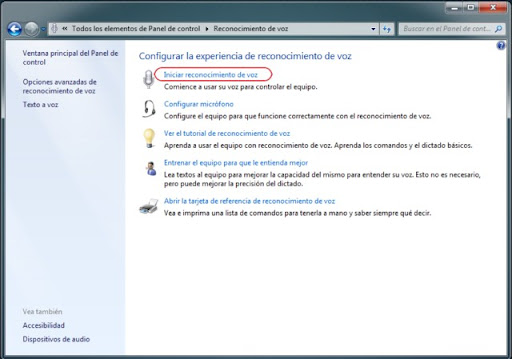 Cómo usar windows 7 con la voz