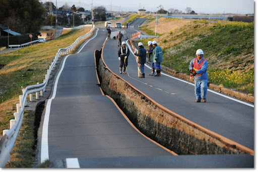 La tierra abierta luego del terremoto en Japón