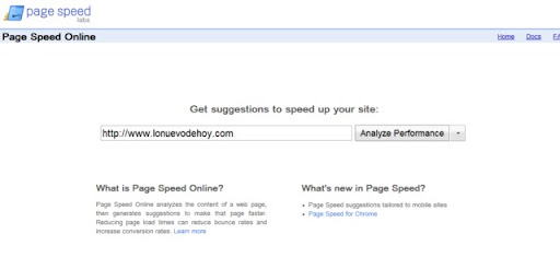 pagespeed de Google