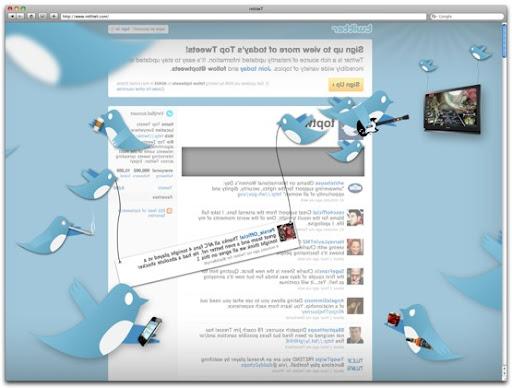 Como se ve Twitter desde un espejo