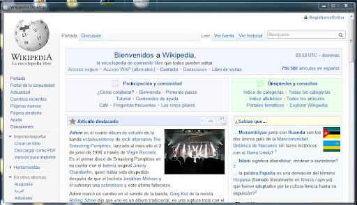 Wikipedia desktop