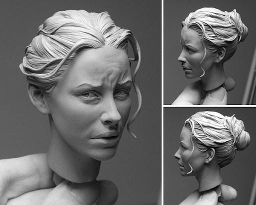 Evangeline%20Lilly Sculptures by Adam Beane