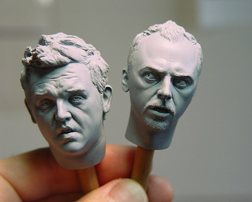 Simon%20Pegg%20and%20Nick%20Frost Sculptures by Adam Beane