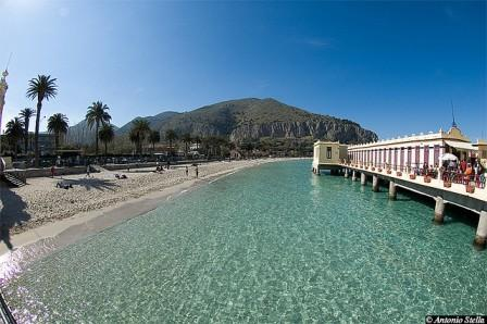 Mondello Beach in Italy