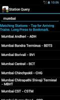 Screenshot of Indian Train Status