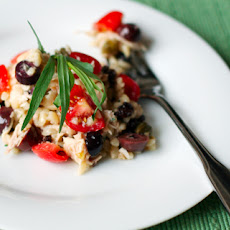 Mediterranean Orzo and Chicken Salad