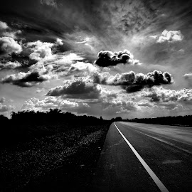 Where the road meets the horizon by Debkumar Suin - Novices Only Street & Candid
