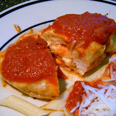 Stuffed Pizza Chicken for Two