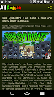 Screenshot of All Reggae Radio