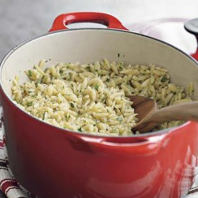 Orzo with Lemon and Parsley