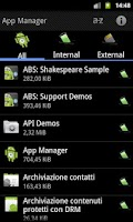 Screenshot of App Manager