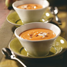 Pear Squash Bisque with Cinnamon Cream