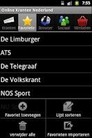 Screenshot of Online Kranten Nederland