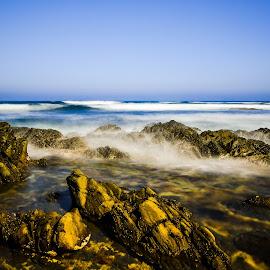 Lorne by Peter Nguyen - Landscapes Beaches ( lorne, victoria, seascape, beach, rock formation, rocks )