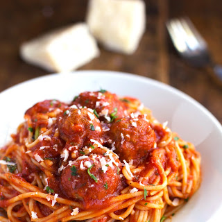 Skinny Spaghetti and Meatballs