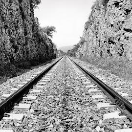 Sideways by Iftikhar Ahmad - Transportation Railway Tracks