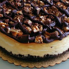 Snickers Cheese Cake W/Caramel-Use up That Halloween Candy!