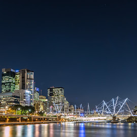 brisbane city by Yun Sheng Yip - Buildings & Architecture Office Buildings & Hotels ( queensland, australia, brisbane, reflections, night, city )