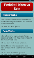 Screenshot of German Verbs