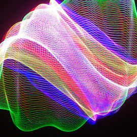 Deflated Superbowl 2015 football of light ! by Jim Barton - Abstract Patterns ( superbowl football of light, laser light, colorful, light design, laser design, laser, deflated football, laser light show, light, science, mood factory, vibrant, happiness, January, moods, emotions, inspiration )