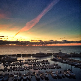 by Jose Figueiredo - Landscapes Travel ( sunset, boats, harbour )