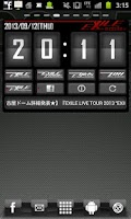 Screenshot of EXILE mobile Clock