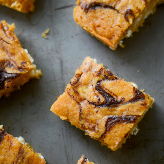 Pumpkin Bars with Nutella Swirl