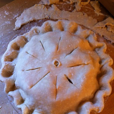 Apple-lemon-elderflower Pie With Lard-butter Crust