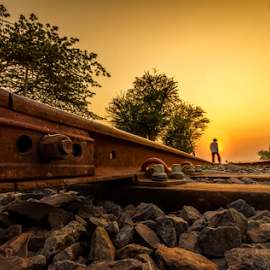 Along the rails  by Liquid Lens - Landscapes Sunsets & Sunrises
