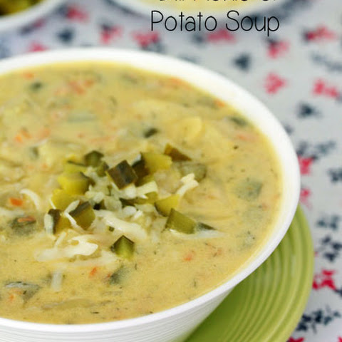 Dill Pickle Potato Soup