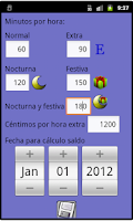 Screenshot of Control de horas