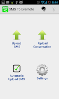 Screenshot of SMS to Evernote, Twitter