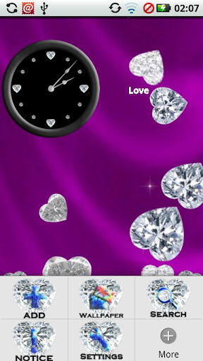 玩個人化App|Diamond Hearts Gem Theme免費|APP試玩