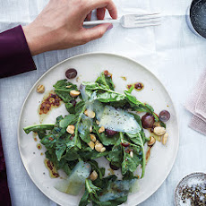 Arugula, Grape, and Almond Salad with Saba Vinaigrette