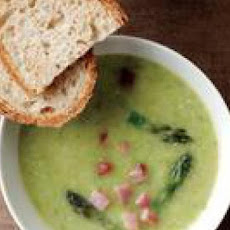 Creamy Asparagus-and-Ham Soup