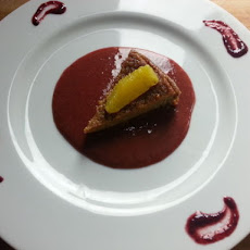 SUGAR - FREE Almond Sweet Potato Cake with Strawberry Coulis - SUGAR FREE