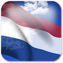 3D Netherlands Flag + icon