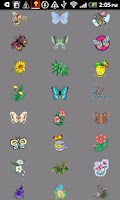 Screenshot of Flowers & bflies 4 Doodle Wish