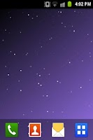 Screenshot of Starfield Live Wallpaper LITE