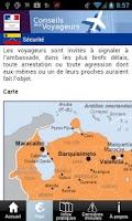 Screenshot of Conseils aux voyageurs