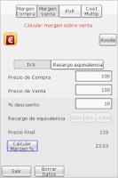 Screenshot of CalculaPrecio