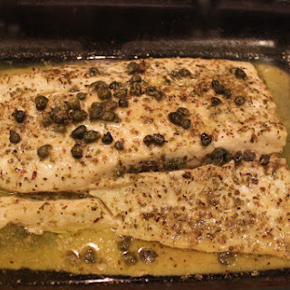 Lemon-Butter and Caper Corvina