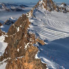 Kaprun Kitzsteinhorn 3029m by Péter Cseke - Landscapes Mountains & Hills ( kitzsteinhorn, travel, panorama, glacier, mountains, winter, salzburg, kaprun, nature, snow, viewpoint, view, austria )