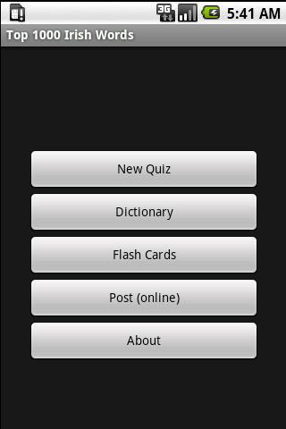 1000 Irish Word Quiz Dict