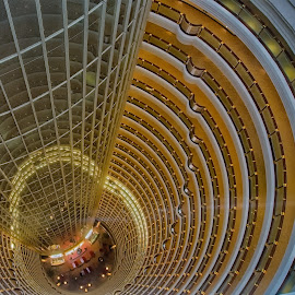 Jin Mao Tower Hotel Reception by Russ Hanson-Coles - Buildings & Architecture Architectural Detail