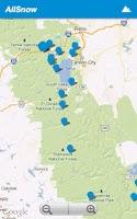 Screenshot of AllSnow Ski Reports & Tracker