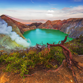 Mount Ijen by Budi Astawa - Landscapes Travel ( crater, mountain, acid, ijen, mount ijen )